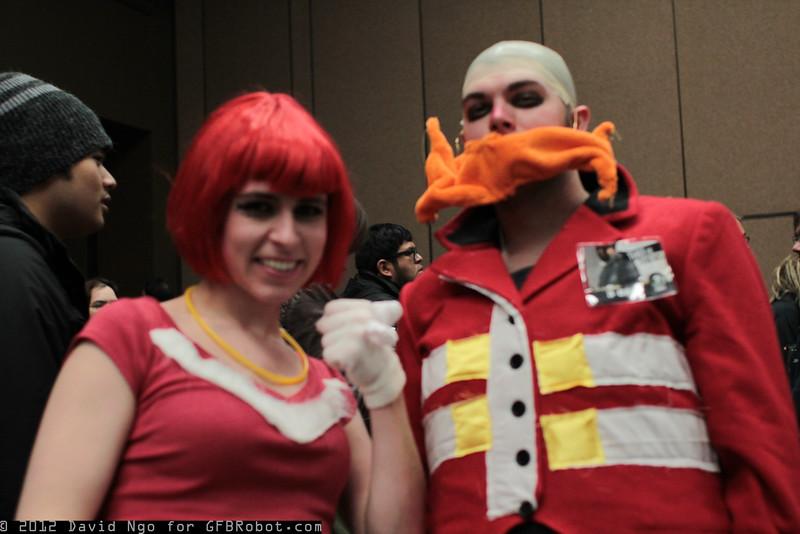 Knuckles and Dr. Robotnik