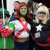 Green Arrow, Miss Martian, and Stargirl