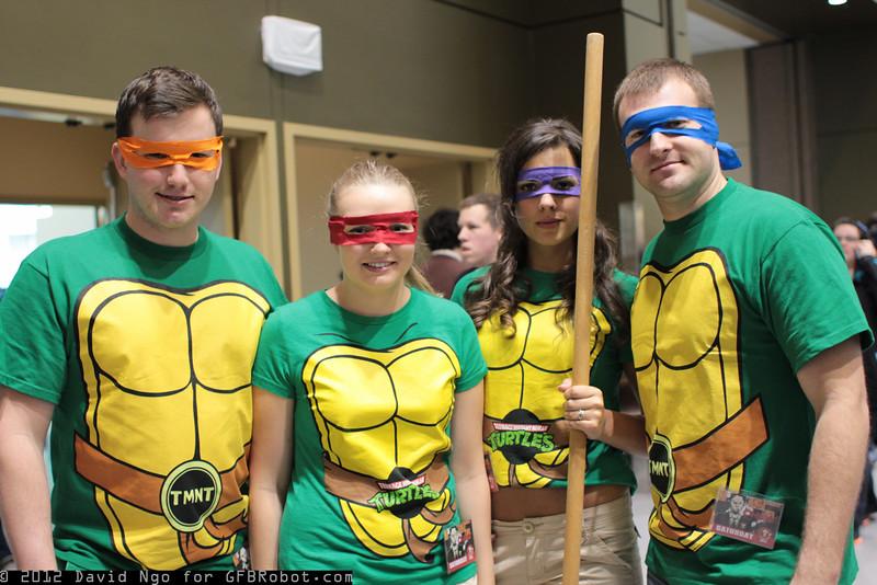 Michelangelo, Raphael, Donatello, and Leonardo