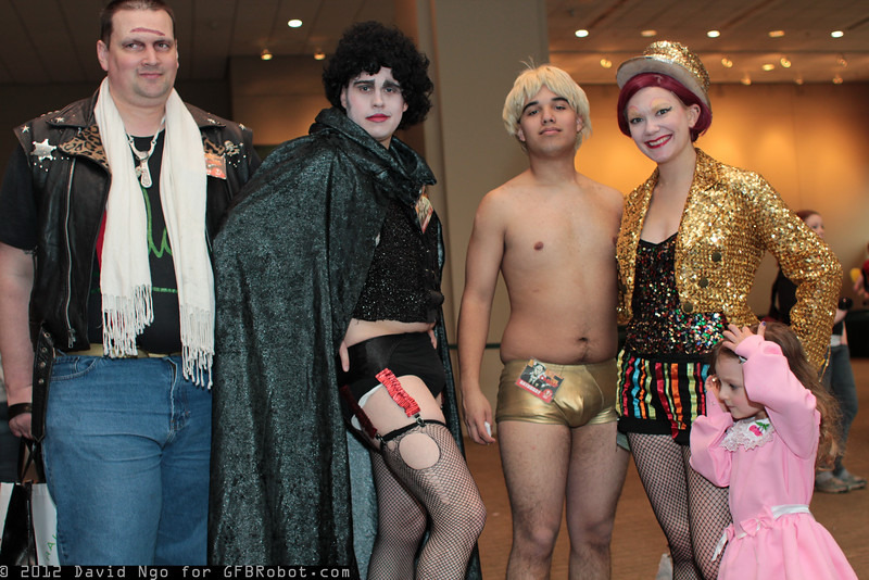 Eddie, Dr. Frank-N-Furter, Rocky Horror, Columbia, and Janet Weiss