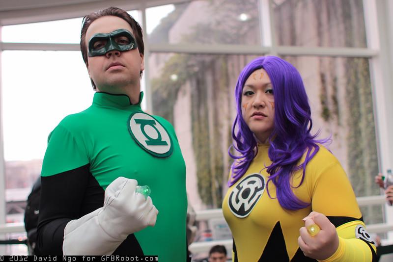 Green Lantern and Feena Sik