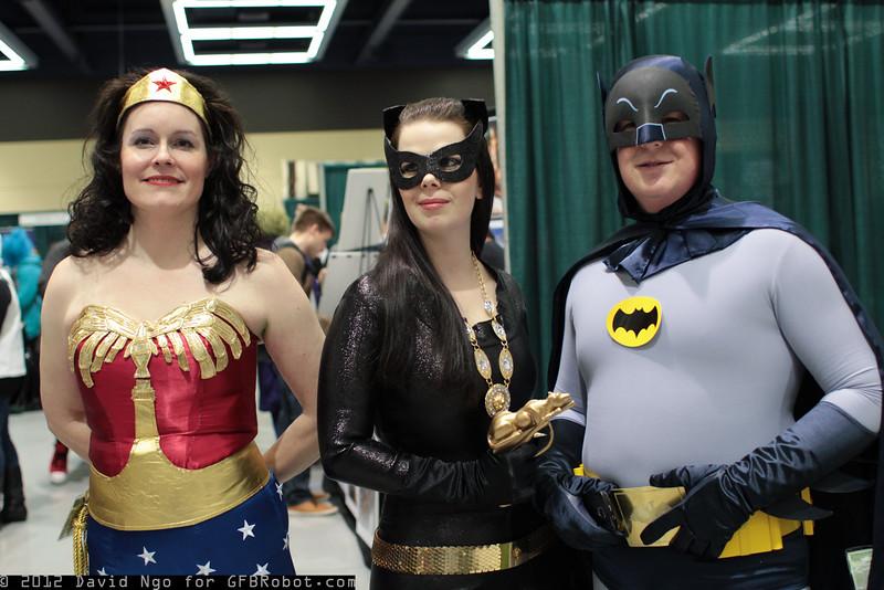 Wonder Woman, Catwoman, and Batman