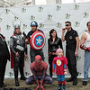 Kingpin, Thor, Captain America, Black Widow, Nick Fury, Tony Stark, Spider-Man, and Flash