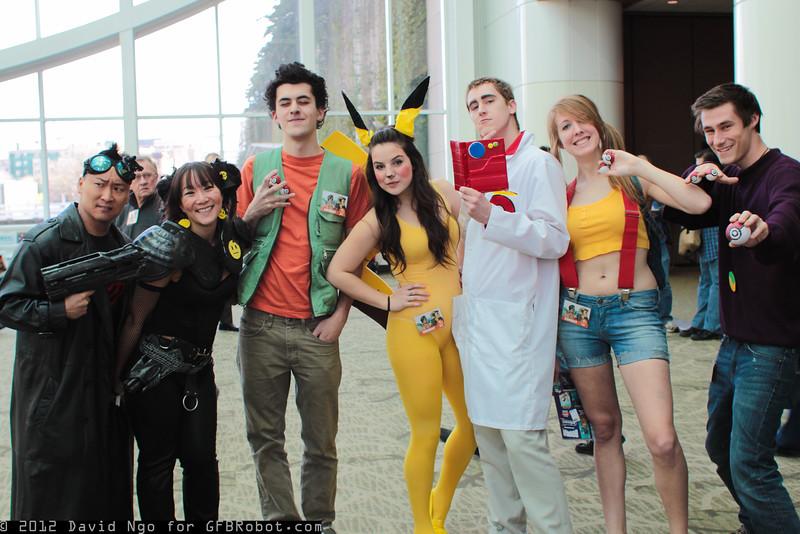 Death-Wish, Ennui, Brock, Pikachu, Professor Oak, Misty, and Gary Oak