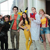 Death-Wish, Ennui, Brock, Pikachu, Professor Oak, Misty, and Gary Oak