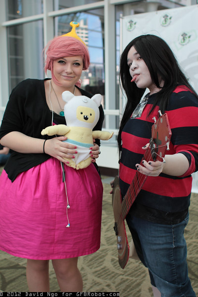 Princess Bubblegum, Marceline, and Finn
