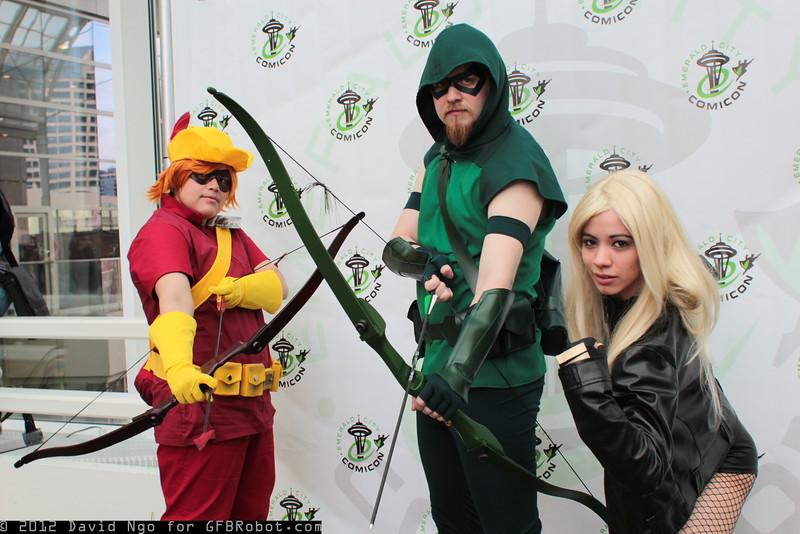 Speedy, Green Arrow, and Black Canary