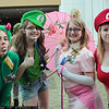 Yoshi, Luigi, Princess Peach, and Mario
