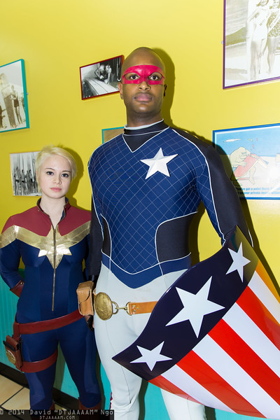 Captain Marvel and Patriot