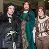 Jon Snow, Catelyn Stark, and Arya Stark