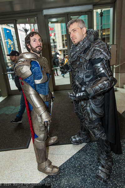 Jor-El and General Zod