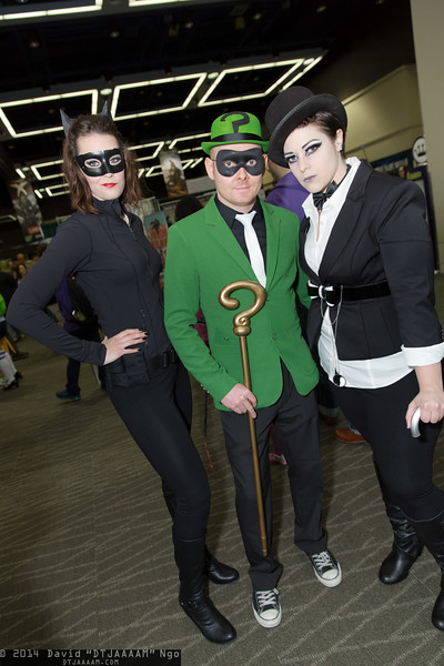 Catwoman, Riddler, and Penguin