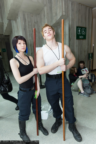 Mako Mori and Raleigh Becket