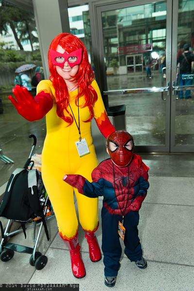 Firestar and Spider-Man