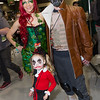 Poison Ivy, Harley Quinn, and Bane