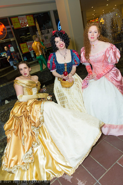 Belle, Snow White, and Ariel