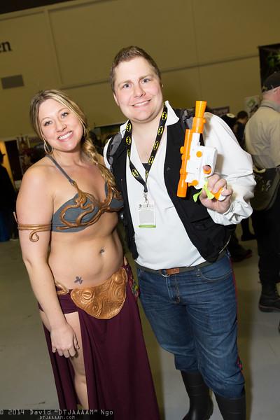 Princess Leia Organa and Han Solo