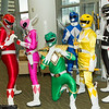 Red Ranger, Pink Ranger, Green Ranger, Blue Ranger, Yellow Ranger, and Black Ranger