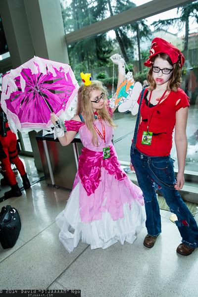 Zombie Princess Peach and Zombie Mario