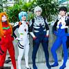 Asuka Langley Soryu, Rei Ayanami, Kaworu Nagisa, and Shinji Ikari