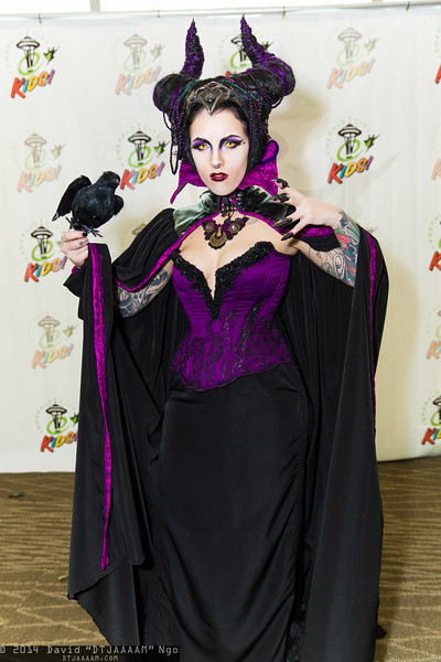 Maleficent and Diablo