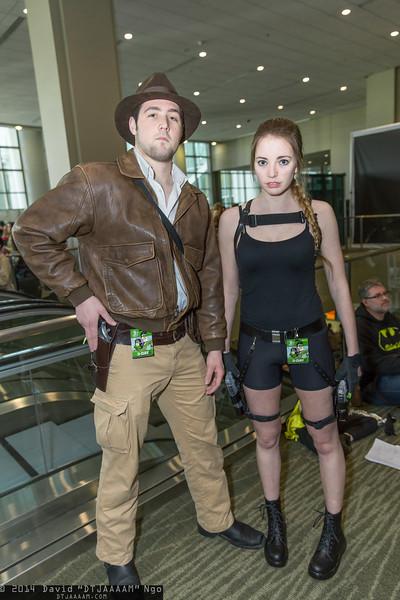 Indiana Jones and Lara Croft