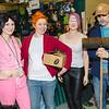 Amy Wong, Fry, Leela, and Scruffy Scruffington