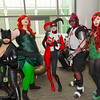 Catwoman, Poison Ivys, Harley Quinn, and Azrael