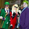 Riddler, Harley Quinn, and Joker