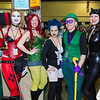 Harley Quinn, Poison Ivy, Livewire, Riddler, and Catwoman