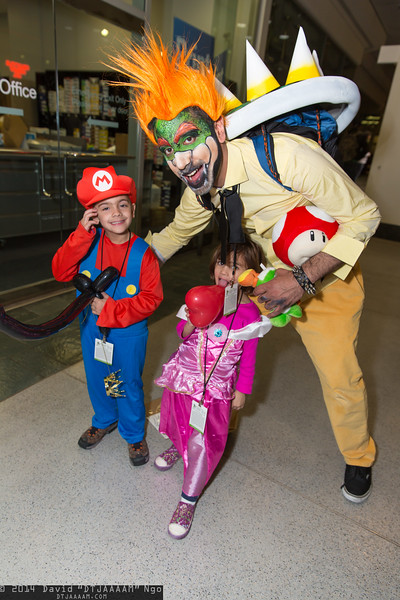 Mario, Princess Peach, and Bowser