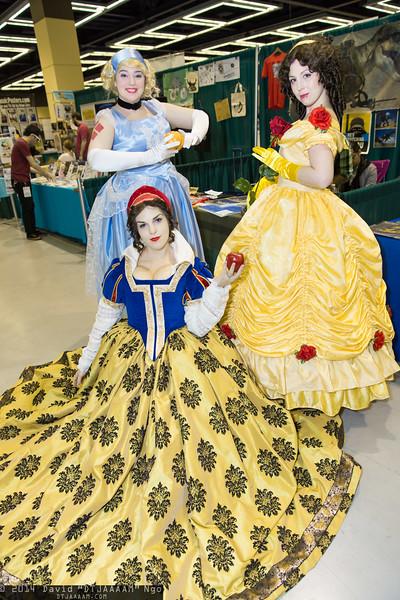 Cinderella, Snow White, and Belle