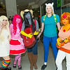 Lady Rainicorn, Princess Bubblegum, Marceline, Fionna, and Flame Princess