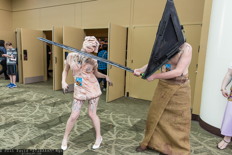 Nurse and Pyramid Head