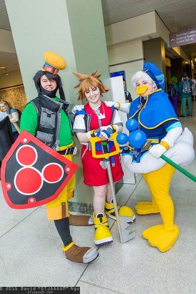 Goofy, Sora, and Donald Duck