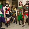 Joker, Harley Quinn, Hawkgirl, Poison Ivy, and Bane