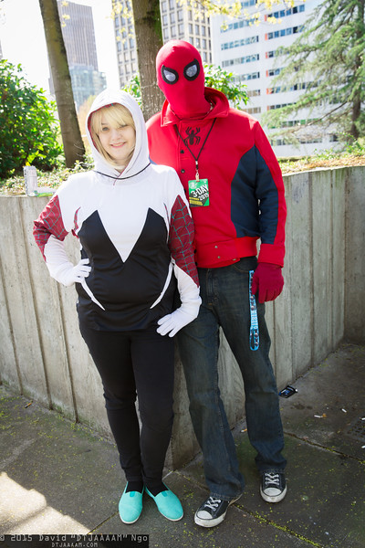 Spider-Woman and Spider-Man