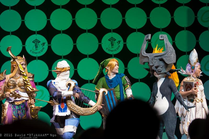 Princess Zelda, Sheik, Link, Midna, and Cia