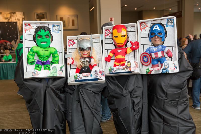 Hulk, Thor, Iron man, and Captain America