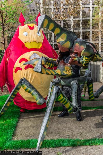 Totoro and Arachnid Warrior