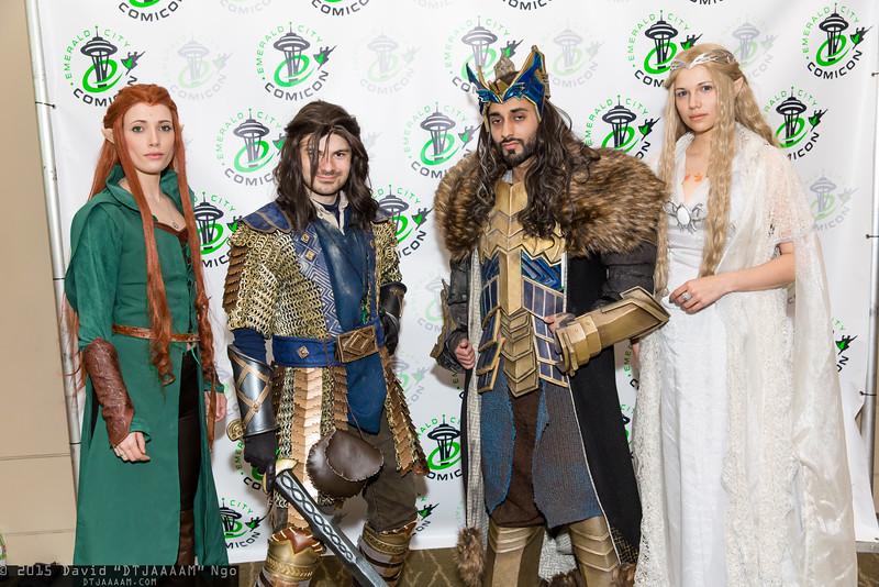 Tauriel, Kili, Thorin Oakenshield, and Galadriel