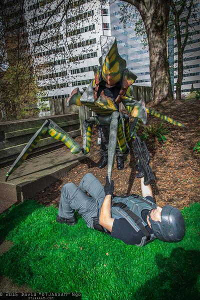 Starship Trooper and Arachnid Warrior