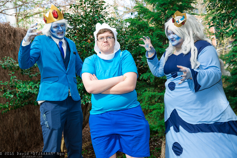Ice King, Finn, and Ice Queen