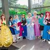 Merida, Belle, Mulan, Alice, Anna, Cinderella, Rapunzel, Vanellope von Schweetz, Ariel, and Briar Rose