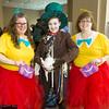 Tweedledee, Mad Hatter, and Tweedledum