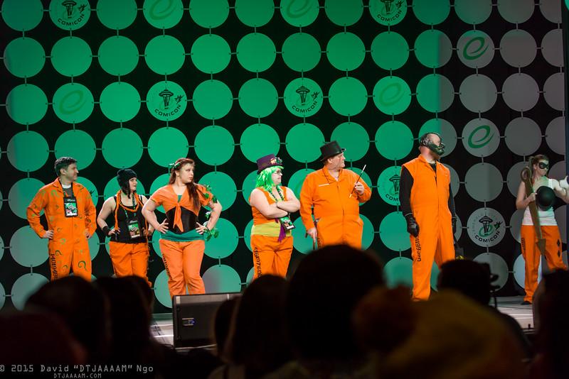 Riddler, Catwoman, Poison Ivy, Joker, Penguin, Bane, and Harley Quinn