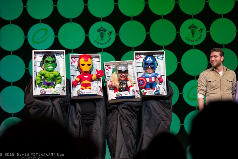 Hulk, Iron Man, Thor, and Captain America