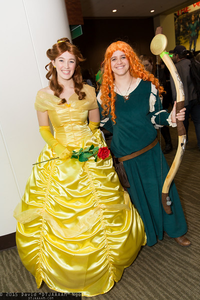 Belle and Merida