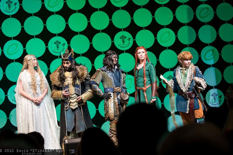 Galadriel, Thorin Oakenshield, Kili, Tauriel, and Bilbo Baggins