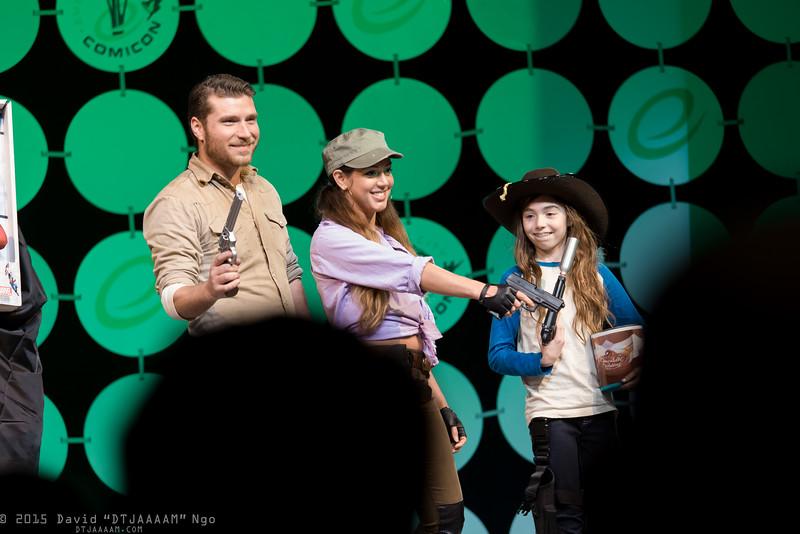 Rick Grimes, Rosita Espinosa, and Carl Grimes